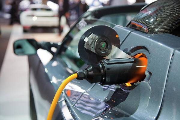 Auto Show Photograph - Tesla Roadster Electric Sports Car by Jim West