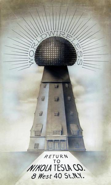 Tesla's Wardenclyffe Tower Laboratory Art Print by Nikola Tesla Museum/science Photo Library