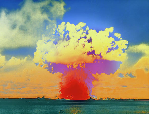 Crossroads Photograph - Test Detonation Of An Atomic Bomb by Science Photo Library