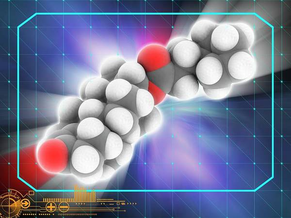 Testosterone Cypionate Drug Molecule Art Print