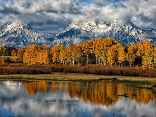 Birch River Photograph - Teton Autumn by Kathleen Bishop