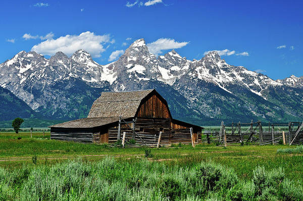 Photograph - Teton Barn by Greg Norrell