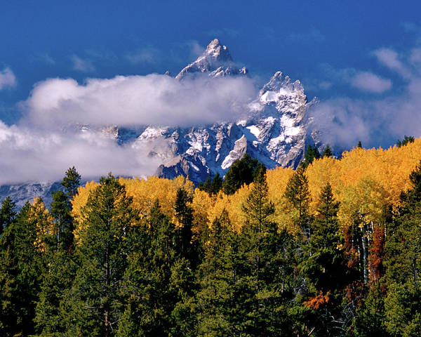 Photograph - Teton Clouds by Ed  Riche