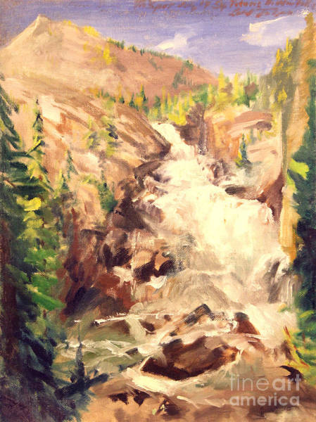 Painting - Teton Falls by Art By Tolpo Collection