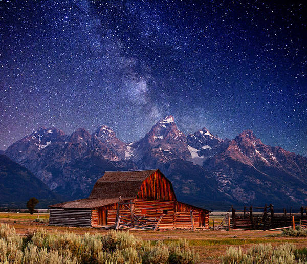 Teton Nights Art Print