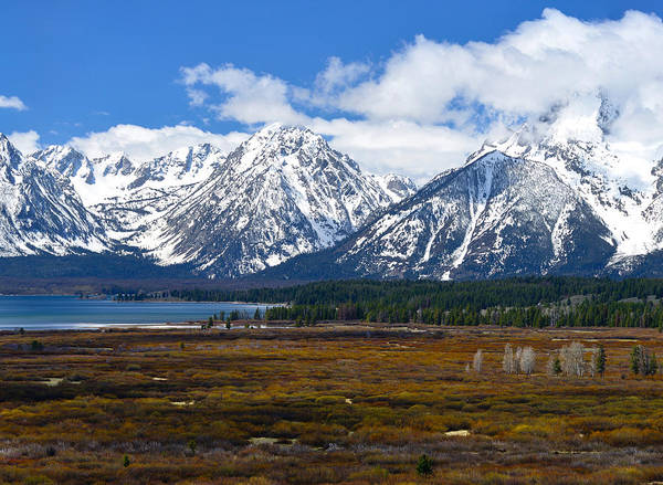 Photograph - Teton Panorama I Center Panel by Greg Norrell