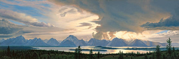 Wall Art - Painting - Teton Range From Signal Mountain by Paul Krapf