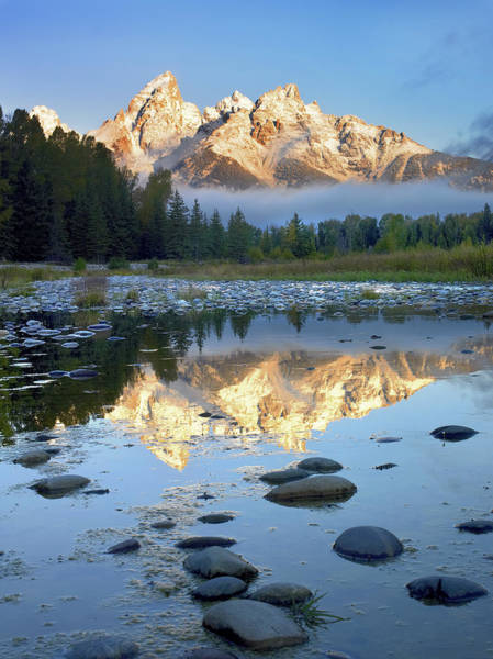 Photograph - Teton Range Reflected In Water Grand by Tim Fitzharris