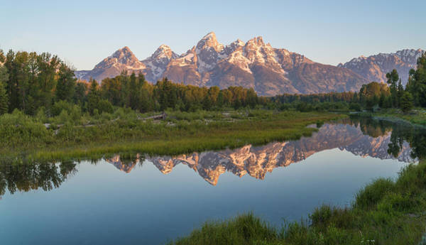 Schwabacher Photograph - Teton Reflecting by Kristopher Schoenleber
