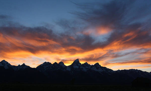 Photograph - Teton Sunset by Jean Clark
