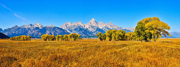 Photograph - Tetons Autumn Panorama by Greg Norrell