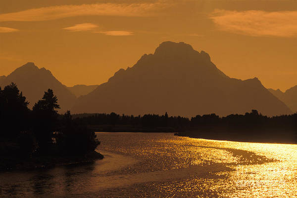 Sun Set Photograph - Tetons - Fs000477 by Daniel Dempster