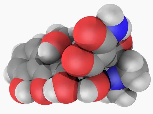 Compound Photograph - Tetracycline Drug Molecule by Laguna Design/science Photo Library