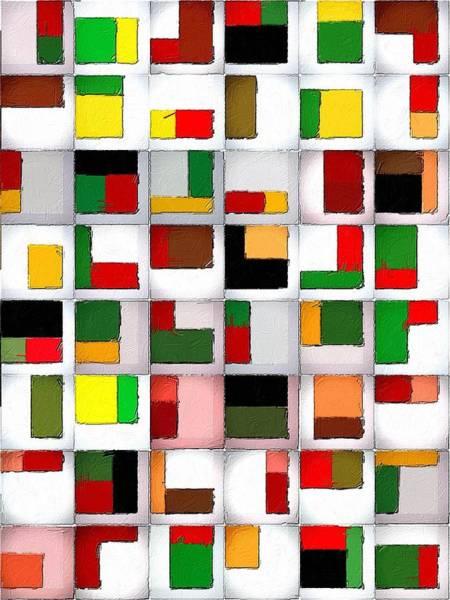 Painting - Tetris Maze by Florian Rodarte