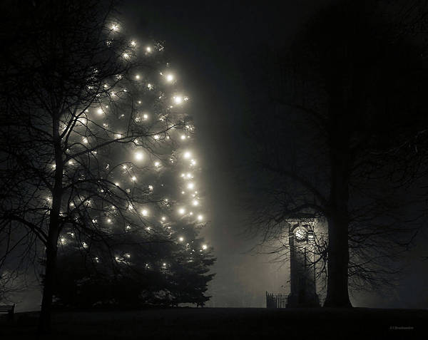 Photograph - Tettenhall Village Clock And Christmas Tree by Sarah Broadmeadow-Thomas