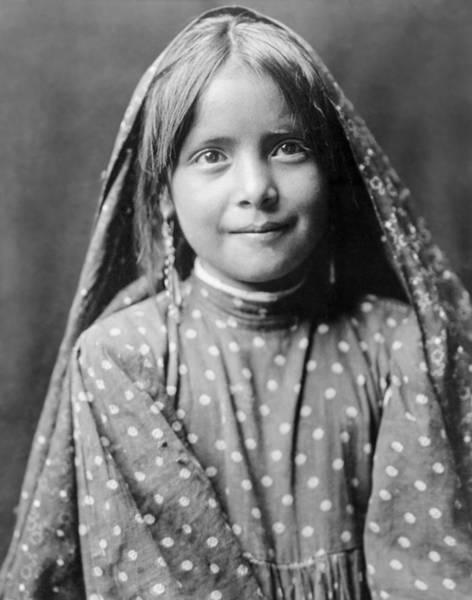 Indigenous Wall Art - Photograph - Tewa Girl Circa 1905 by Aged Pixel