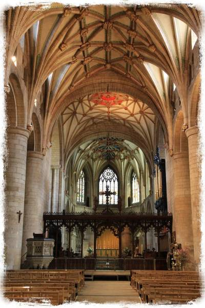 Gothic Arch Photograph - Tewkesbury Abbey by Stephen Stookey