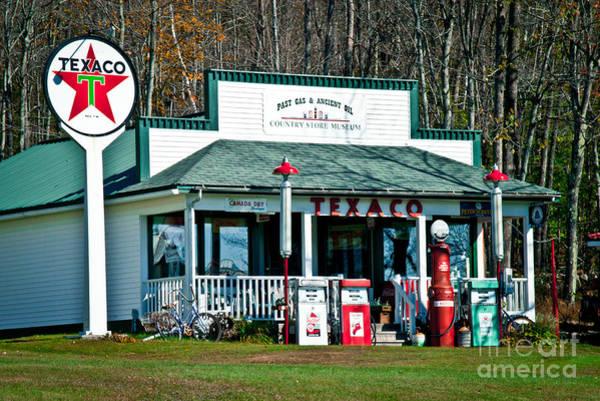Photograph - Texaco Gas Station by Alana Ranney