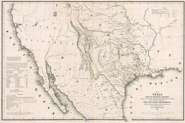 Painting - Texas And California 1846 by Willima H Emory