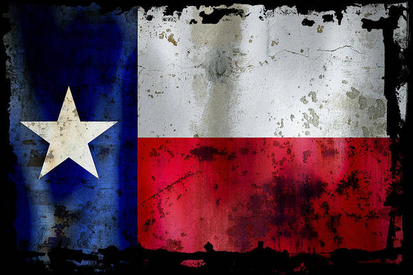 Fort Worth Digital Art - Texas Battle Flag by Daniel Hagerman