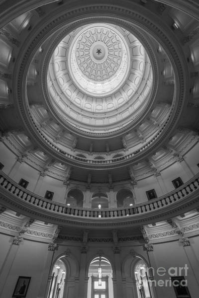 Texas Capitol Photograph - Texas Capitol Dome Interior by Inge Johnsson