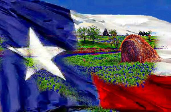Texas Bluebonnet Digital Art - Texas by Carrie OBrien Sibley