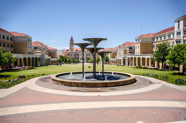 Tcu Wall Art - Photograph - Texas Christian University Campus Commons by Carrie Murphey