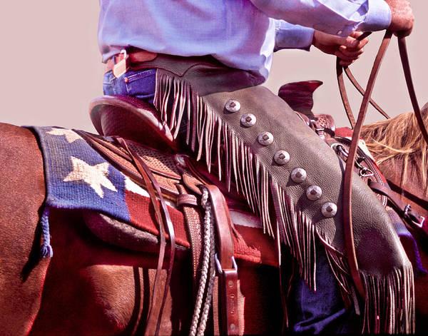 Saddle Photograph - Texas Cowboy by David and Carol Kelly
