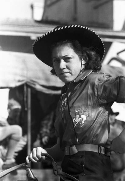 Photograph - Texas Cowgirl, 1940 by Granger