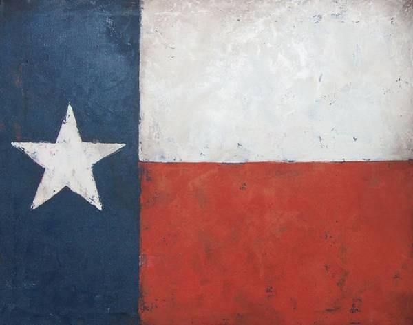Lone Star Painting - Texas Flag by Cheri Stripling