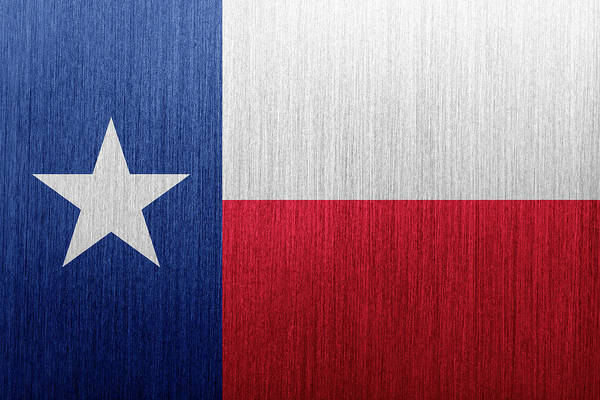 Southwest Digital Art - Texas Flag by Duncan1890