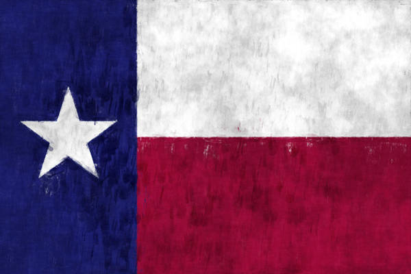 Lone Digital Art - Texas Flag by World Art Prints And Designs