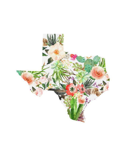 Wall Art - Painting - Texas Floral Collage I by Tara Moss