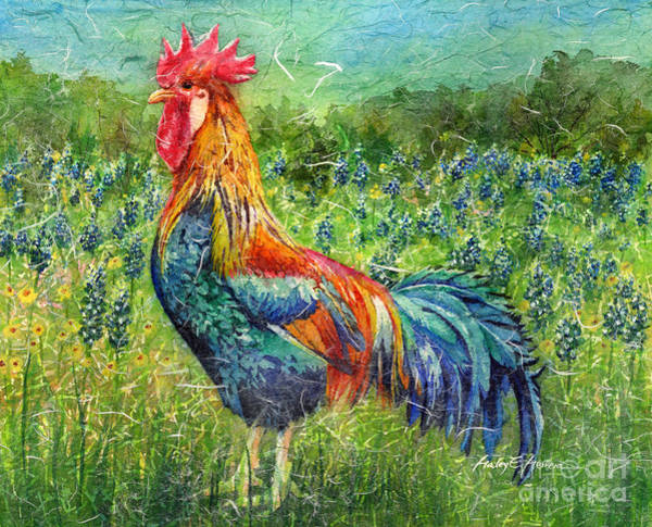 Hen Painting - Texas Glory by Hailey E Herrera