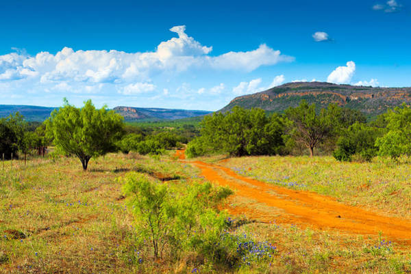 Dirt Roads Photograph - Texas Hill Country Red Dirt Road by Darryl Dalton
