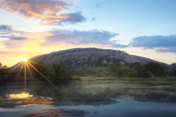Enchanted Rock State Park Photograph - Texas Hill Country Sunrise At Enchanted Rock 1 by Rob Greebon