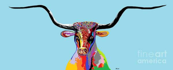 Lone Star Painting - Texas Longhorn by Eloise Schneider Mote