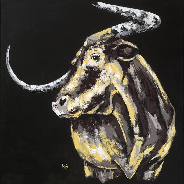 Painting - Texas Longhorn by Konni Jensen