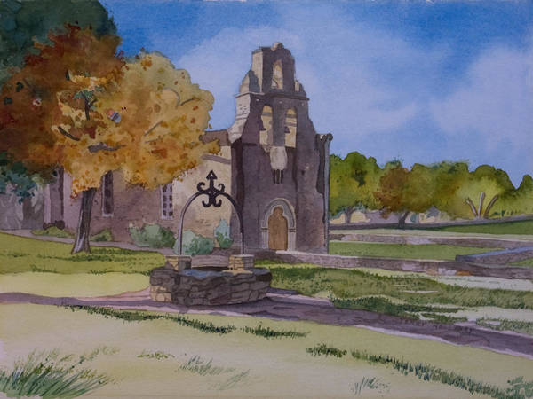 Painting - Texas Mission by Terry Holliday