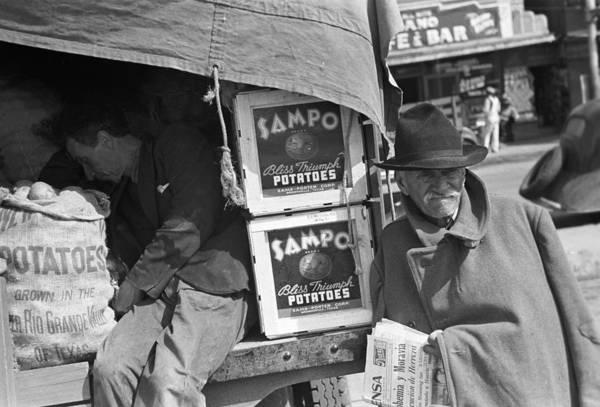 Wall Art - Photograph - Texas Potato Vendor, 1939 by Granger