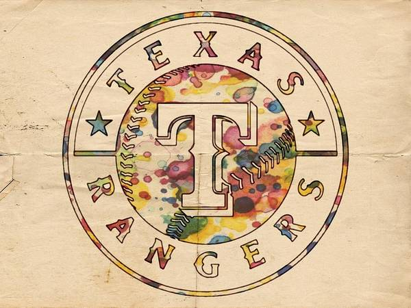 Painting - Texas Rangers Poster Vintage by Florian Rodarte