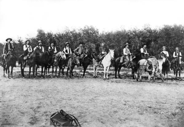 Frontier Photograph - Texas Rangers by Underwood Archives