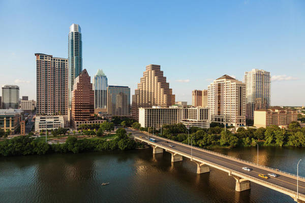 Cityscape Photograph - Texas Skyline During Golden Hour by Peter Tsai Photography - Www.petertsaiphotography.com