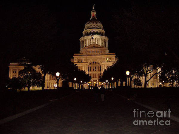 Canon Rebel Photograph - Texas State Capital by John Telfer