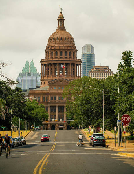 Stop Light Photograph - Texas State Capitol Building by Lotus Carroll