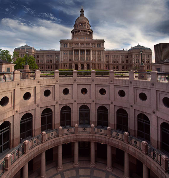 Capital Of Texas Wall Art - Photograph - Texas State Capitol by Paul Huchton