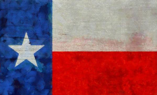Lone Star Painting - Texas State Flag Weathered And Worn by Dan Sproul