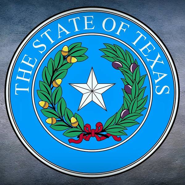 Digital Art - Texas State Seal by Movie Poster Prints