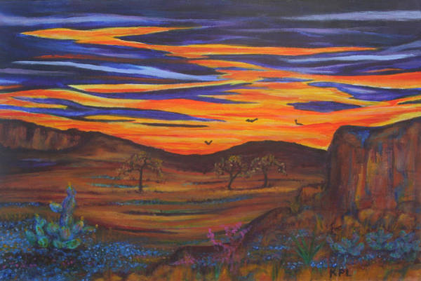 Painting - Texas 'sunset by Kathy Peltomaa Lewis