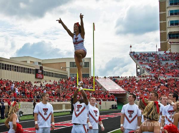 Photograph - Texas Tech Cheerleaders by Mae Wertz